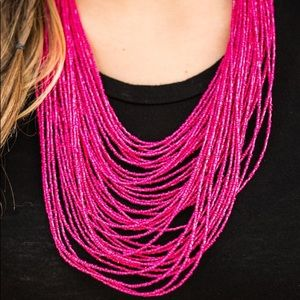 Jewelry - Pink Seed bead necklace. NWT.